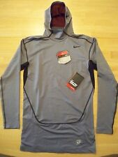 New with tag Nike Men Pro Combat Compression hooded hyperwarm shirt 543599-065