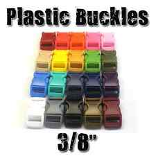 "3/8"" Side Release Contured Plastic Buckles for 550 Paracord Bracelets"