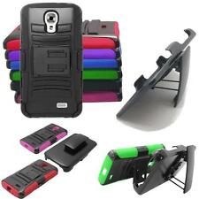 Phone Case For LG Access LTE Hybrid Cover Stand+ Holster Case /For LG L31L Cover