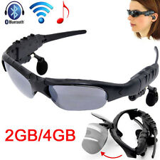 Sports 2/4GB Sunglass W/Headset MP3 Player Sun Glasses With Bluetooth Hot
