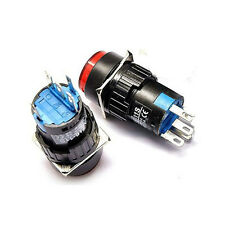 2X ON/OFF LED Light Momentary Push Button Switch No Lock Self-reset Red/Green 3A