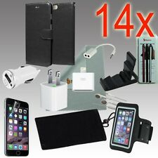 14pcs iPhone 6 Accessories,Leather Wallet Case,Armband,Home Car Charger,Earphone