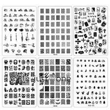 Chic Women WB Series Nail art Image Stamp Plates Polish Stamping Manicure Image