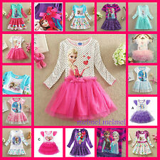 Easter Party Elsa Anna Disney Frozen Costume Gift Flower Girls Dress Age 1 to 8