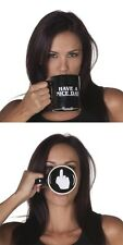 Funny Coffee Mug Have a Nice Day with Middle Finger Bottom by Sik World