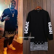 Paisley Dope Swag Tee Yeezy Pray Side Zipper Long Sleeve T-Shirt Extended