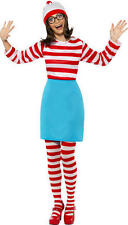 Smiffys WHERES WALLY? WENDA Fancy Dress Costume Outfit Adult Ladies/Womans BN