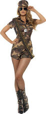 Smiffys ARMY GIRL Sexy Fancy Dress Costume Adult Female/Ladies/Womans BN