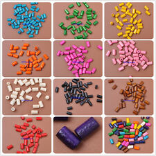 100pcs 300pcs mixed color Charms Wood bead Loose Spacer Beads Findings 4.5x8mm
