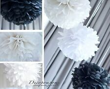 METALLIC and GLITER TISSUE PAPER POMPOMS!  - party decorations