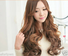 New Ladies Girls 5 Clips In 100g Real Human Wavy Hair Extensions 3 Colors