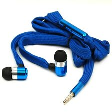 Shoelace 3.5mm Stereo Bass Earphone Headset with MIC for iPad 3/4/5 Mini 2 Air