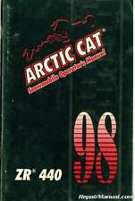 Used 1998 Arctic Cat ZR 440 Snowmobile Owners Manual