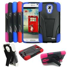 Phone Case For Straight Talk LG Access LTE L31G L31L Rugged Hard Cover Kickstand