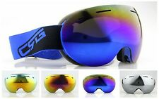 professional skiiing/snowboard helmet goggles double lens anti-fog ski goggles