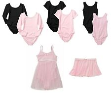 New Danskin Girls Short & Long Sleeve Leotard Tutu & Dance Ballet  FREE SHIP