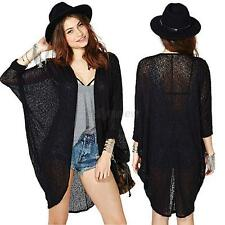 NEW Lady Batwing Poncho Knit Cardigan Top Long Sleeve Coat Knitwear Sweater Cape