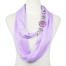 flower charms infinity endless loop scarf multicolors available NL-2089
