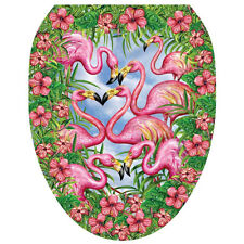 Flamingo's Fancy Toilet Tattoo  Removable Reusable Bathroom Decoration
