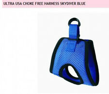 Dog Harness Step In Vest Choke Free Seatbelt Car-Safe - Skydiver Blue - SMALL