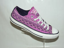 NEW CONVERSE CT AS WILDERNESS LOW TOP TRAINERS. PINK/PURPLE TEXTILE