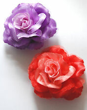 Elegant Rose Hair Clip or Pin in Purple or Red / Red Hat Decoration or Hair Clip