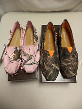NEW- Realtree Pink Or Green APC Camo Slip On Shoes