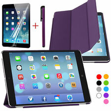 Magnetic Slim Smart Cover PU Leather + Back Case for New Apple iPad Air 1/2