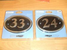 New Aluminium House Door Flat Home Number #1-50 limited stock Plate Plaque Sign