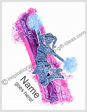 PERSONALIZED NAME CHEERLEADER CHEERLEADING PICTURES WALL ART DECOR POSTER PRINT