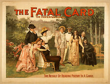 Photo Print Vintage Poster: Stage Theatre Flyer The Fatal Card 01