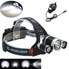 Rechargeable 6000 Lumen 3x CREE XM-L T6 LED Headlamp Headlight Head Torches USB