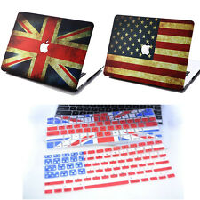 "2in1 USA UK Flag Matte Hard Case+Keyboard Cover for MacBook Air Pro 11"" 13"" 15"""
