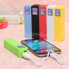 2600mAh USB LCD Power Bank Colorful Battery Charger DIY Box Kit for Mobile Phone