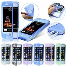 5 Colors Front&Back Flip Soft Crystal Silicone Case Cover For Apple iPhone 4S 5S