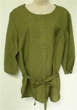 Sherry Taylor New Green Woven Top Sz S & L Retail $42
