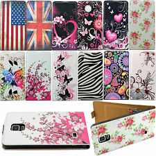 Flip Magnetic PU Leather Card Slot Case Cover For Samsung Galaxy Note 4 IV N9100