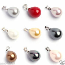 Fashion Genuine 12x16mm South Sea Shell Pearl Teardrop Pendant