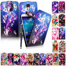 For Various Phones Stylish Printed Leather Magnetic Flip Case Cover+Guard+Stylus