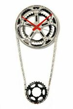 Chain Ring Wall Clock Handmade from Recycled Bicycle Parts