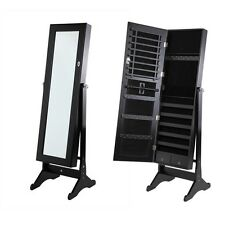 Homegear Mirrored Jewelry Cabinet With Stand Armoire Organizer Storage