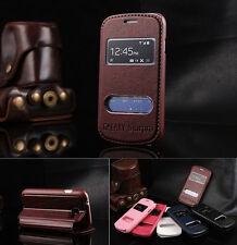 New Protective Flip Stand Luxury PU Leather View Case Cover For Samsung Galaxy