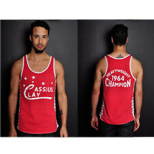 Roots of Fight Cassius 1964 Striped Tank Top - Red