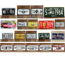 15*30cm Luxury cars License plate Vintage Metal Sign Tin Poster Bar Cafe Shop