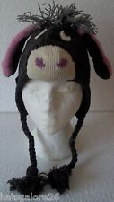 KIDS ANIMAL FACE HAT 10 ASSORTED ANIMALS 100% WOOL HAND KNITTED IN NEPAL 3/5YRS