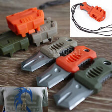 MOLLE Webbing Buckle Self Defence Survival Tool EDC Mini Stainless Steel Knife