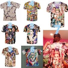 Fashion Hip-hop Unisex Tops Harajuku Pattern O Neck Short Sleeve Loose T-shirt