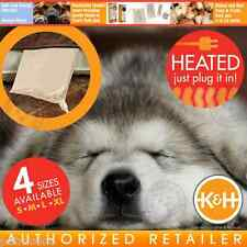 K&H Pet Bed Warmer Indoor Home Heating Pad Crate Cushion 4 Sizes S M L XL