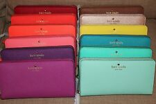 *NWT* Kate Spade MIKAS POND LACEY Zip-Around Embossed Leather Clutch Wallet