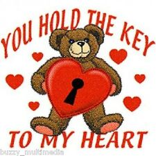 You Hold The Key To My Heart Shirt, Valentines Day, Cuddle Love Bear, Small - 5X